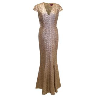 Project D Gold Sequin Gown