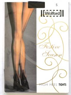 Wolford black high heel Festive Season tights