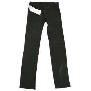 Rag&Bone Skinny Leather Washed Black Jeans