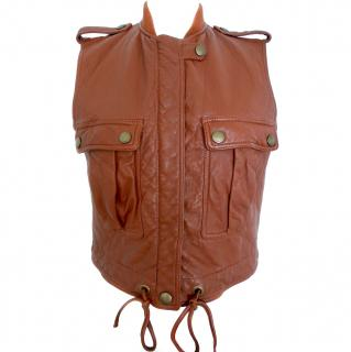 Chloe Leather Gilet Vest