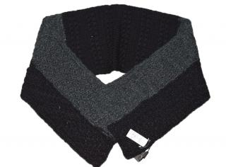 Dolce & Gabbana Men  grey black wool cashmere scarf