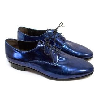 Lanvin Metallic Blue Dress Shoes