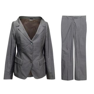 Alexander McQueen Grey Pinstripe Suit