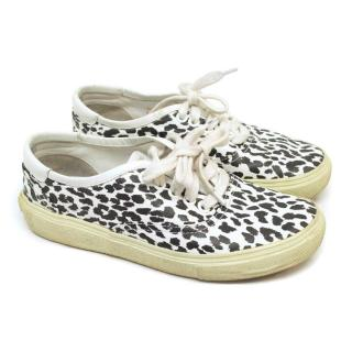 Saint Laurent Animal Print Plimsolls