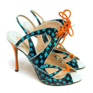 Nicholas Kirkwood Printed Stiletto Sandals