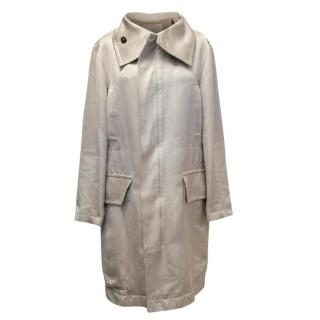 Yves Saint Laurent Cream Trench Coat