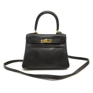 Hermes Black Mini Kelly Bag 20cm in Swift Leather