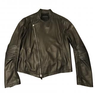 Leather Emporio Armani jacket