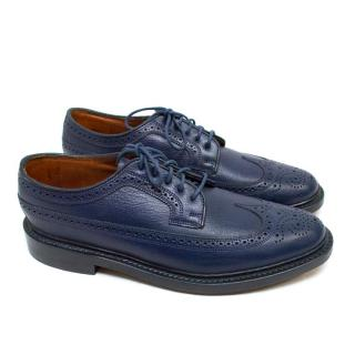 Florsheim Blue Leather Brogues