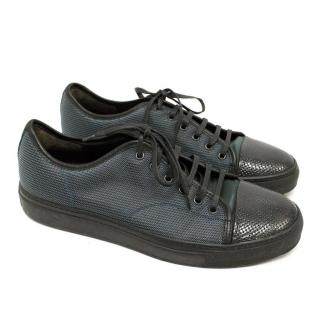Lanvin Textured Leather Trainers