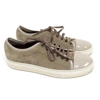 Lanvin Grey Suede Low-Top Trainers