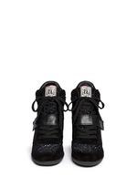 Ash - 'Bowie' Sequin Crochet High Toe Wedge Sneakers
