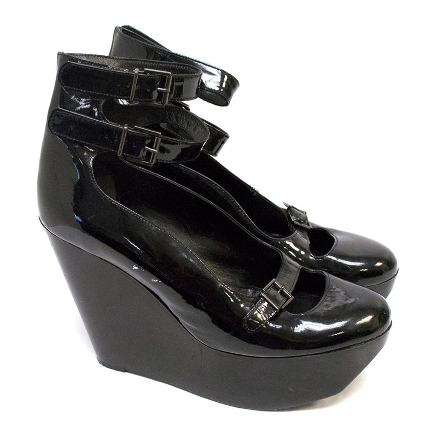 Robert Clergerie Black Wedge Pumps