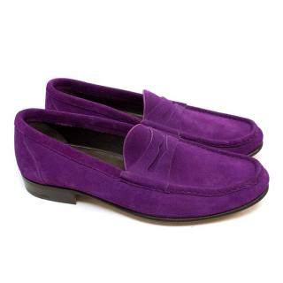 Tom Ford Purple Suede Loafers