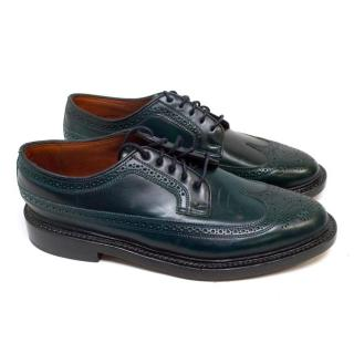 Florsheim Dark Green Leather Brogues