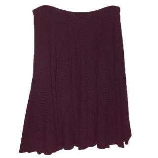 Dianne von Furstenburg Black Knitted Skirt