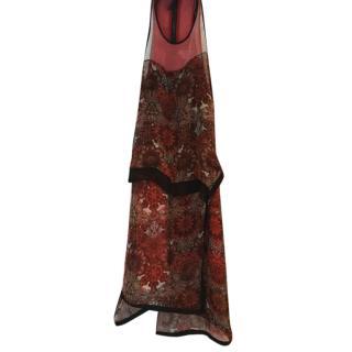 Helmut Lang muti print dress