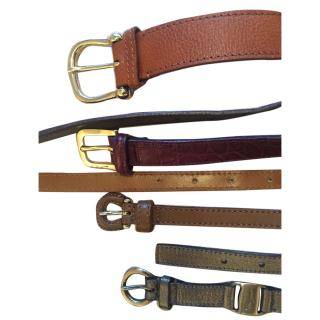 Set of designer belts