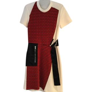 Phillip Lim red & black check dress.
