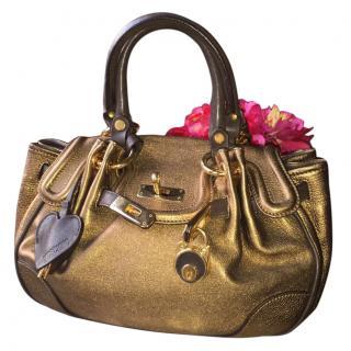Moschino bronze bag