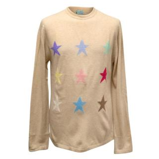 Clements Ribeiro Nude Cashmere Jumper with Star Print
