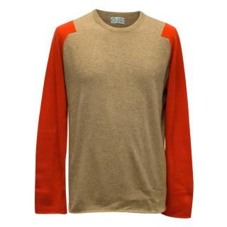 Clements Ribeiro Tan & Red Jumper
