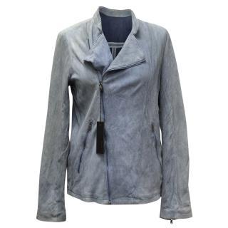 Diesel Blue Suede Jacket