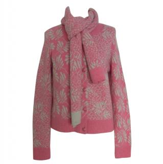 Barrie pink cashmere cardigan