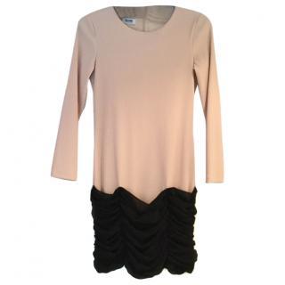 Moschino cream & black dress