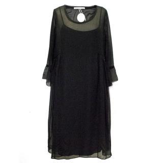 Schumacher Sheer Black Dress