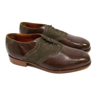 Florsheim by Duckie Brown Brown Leather and Suede Brogues