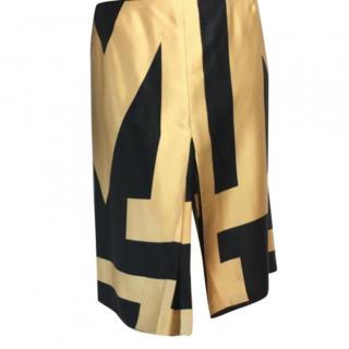 Missoni graphic print pleated silk twill skirt