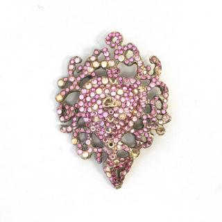Christian Lacroix Pink Crystal Broach