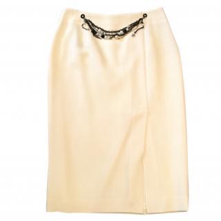 Moschino cream skirt.