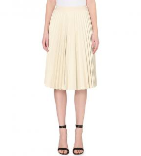 Theory Zeyn pleated leather skirt