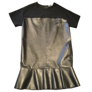 Sportmax Code black leather & material dress.