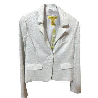 Catherine Malandrino White Sequinned Jacket