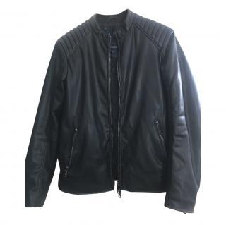Armani Jeans Men's Leather Jacket
