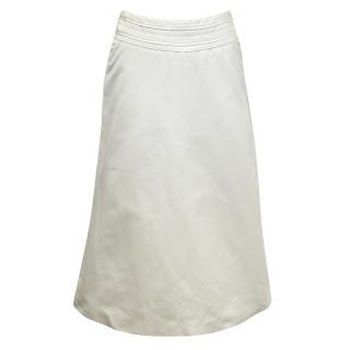 Amanda Wakeley Cream A-line skirt