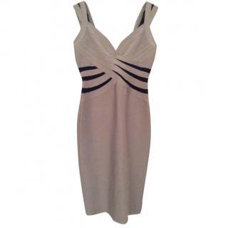 Herve Leger Silver Grey Bandage Dress
