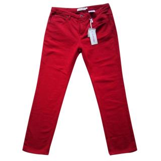 See by Chloe red trousers