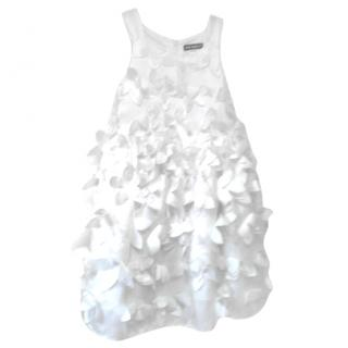 David Charles white floral sleeveless dress aged 4