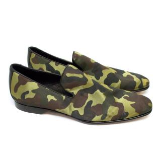 Donald J Pliner Green and Brown Sation Loafers