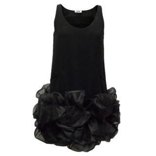 Moschino Black Ruffled Dress