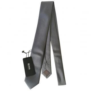 Boss Slim Silver Grey Silk  Tie