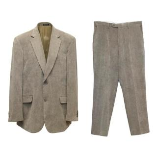 Stefano Castillo Khaki Corduroy Two Piece Suit