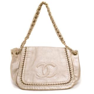 Chanel Metallic Gold Handbag