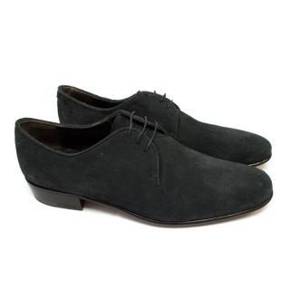 Lanvin Washed Black Dress Shoes