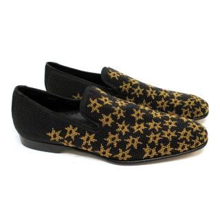 Donald J Pliner Beaded Loafers