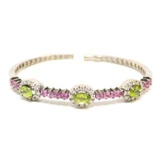 Russian Peridot Diamond & Sapphire Bracelet